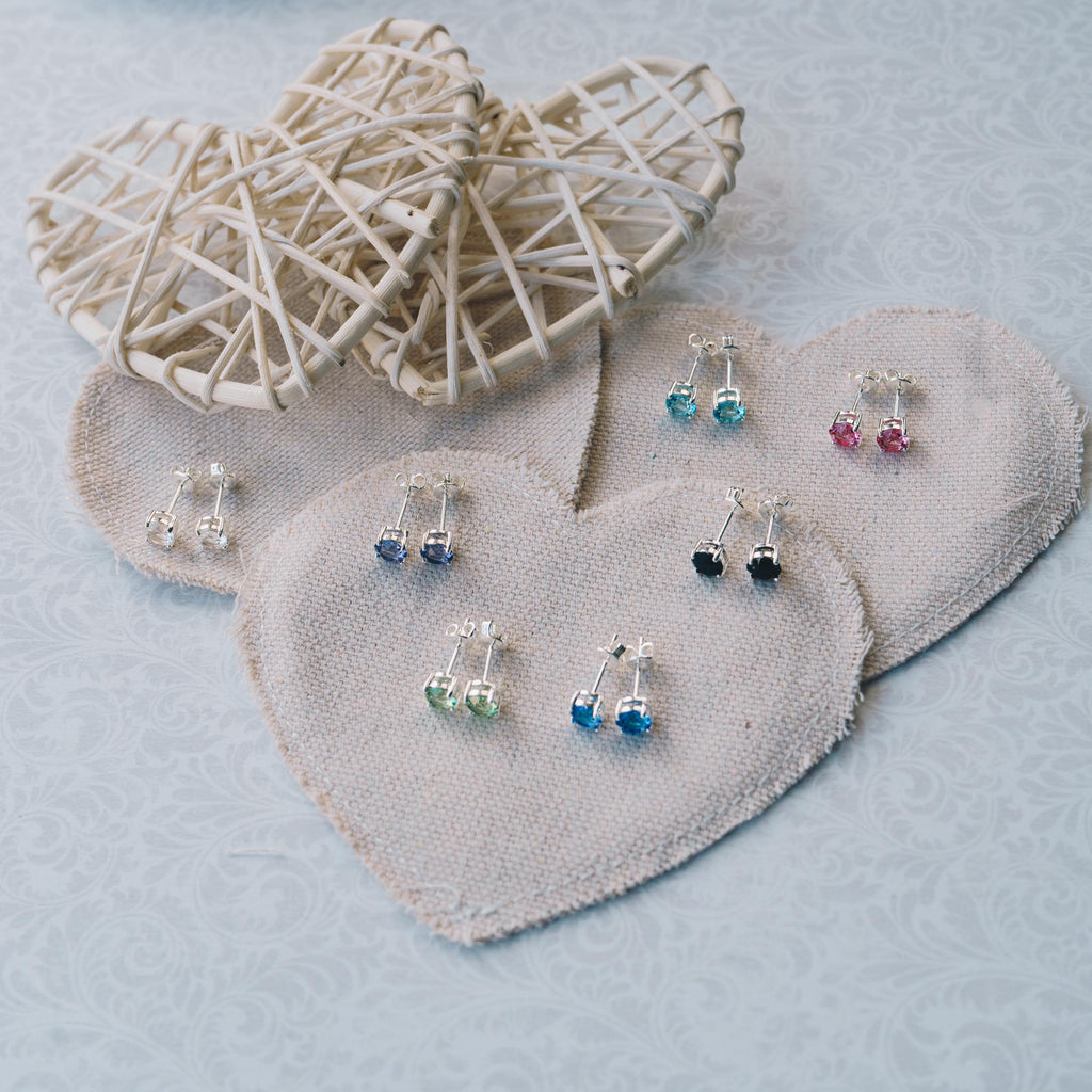 Seven Pairs of Round Earrings Created with Swarovski® Crystals