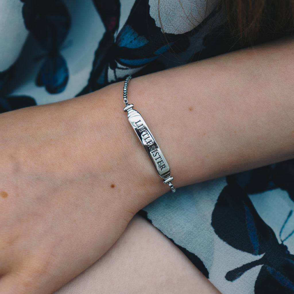 Little Sister ID Friendship Bracelet Created with Swarovski® Crystals