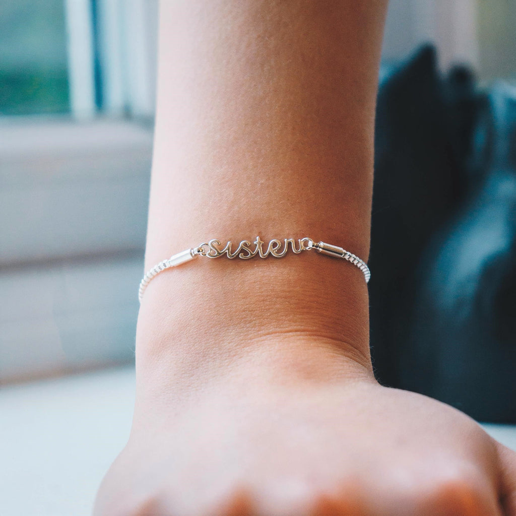 Silver Sister Bracelet Created with Swarovski® Crystals