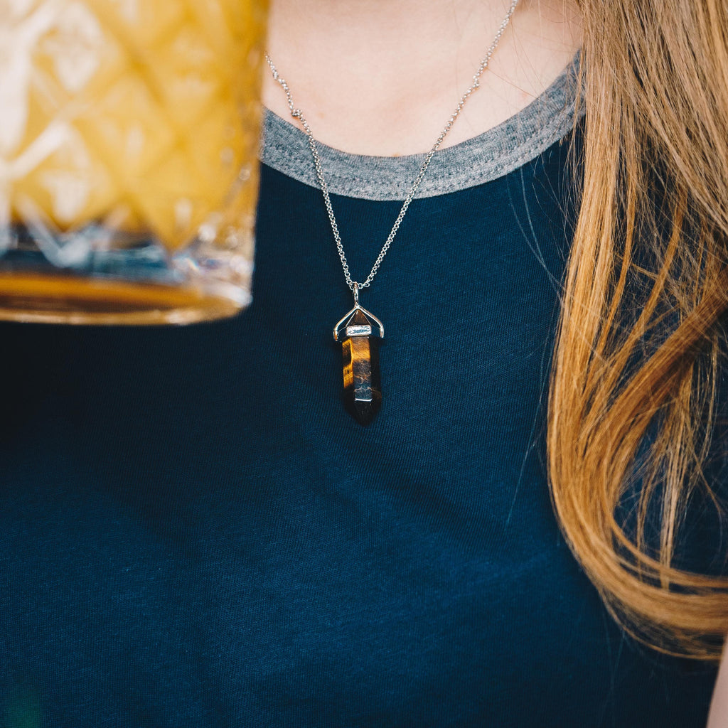 Tiger's Eye Genuine Gemstone Necklace