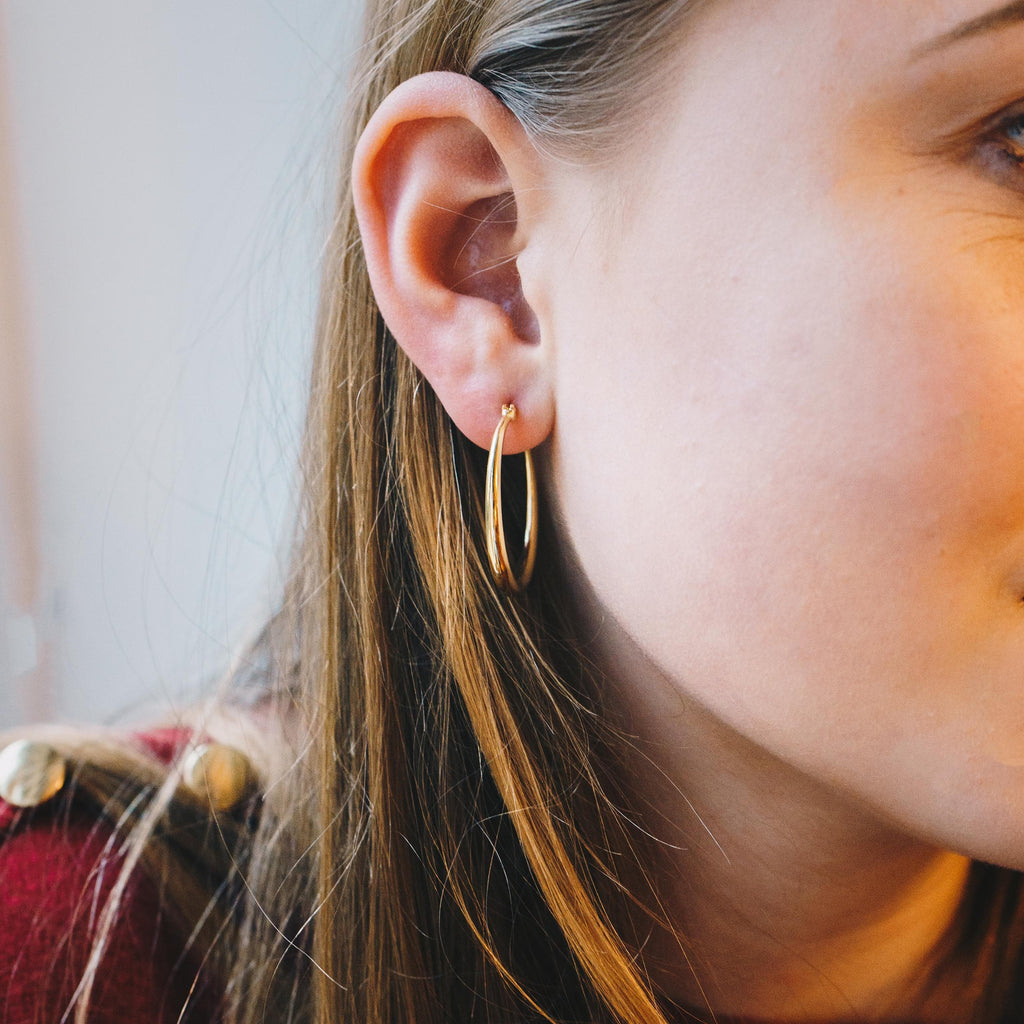 Gold 30mm Hoop Earrings