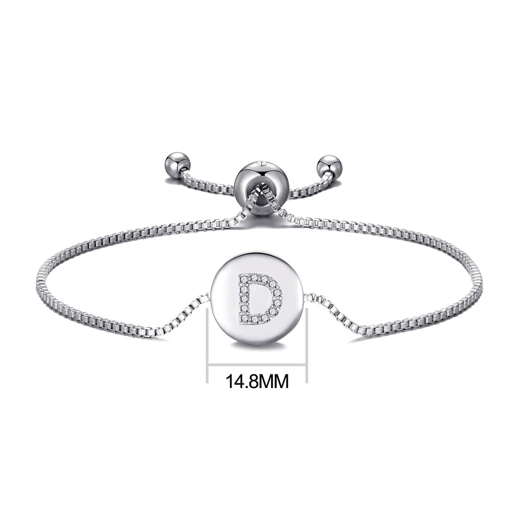 Initial Friendship Bracelet Letter D Created with Swarovski® Crystals