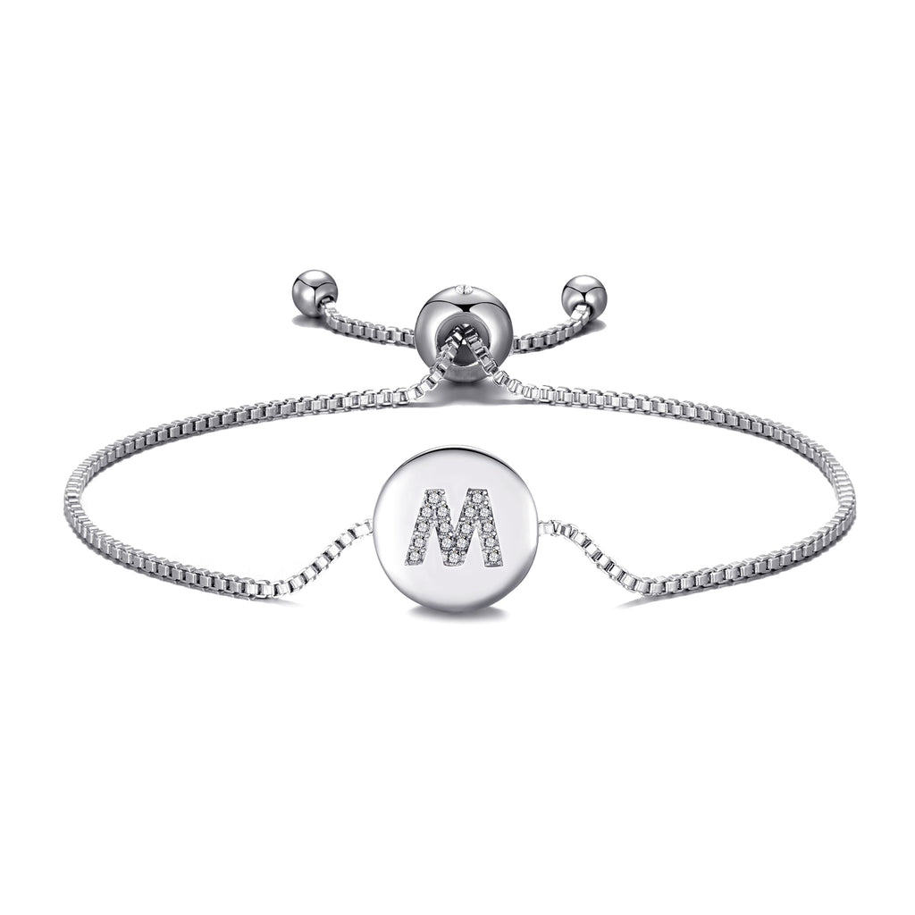 Initial Friendship Bracelet Letter M Created with Swarovski® Crystals