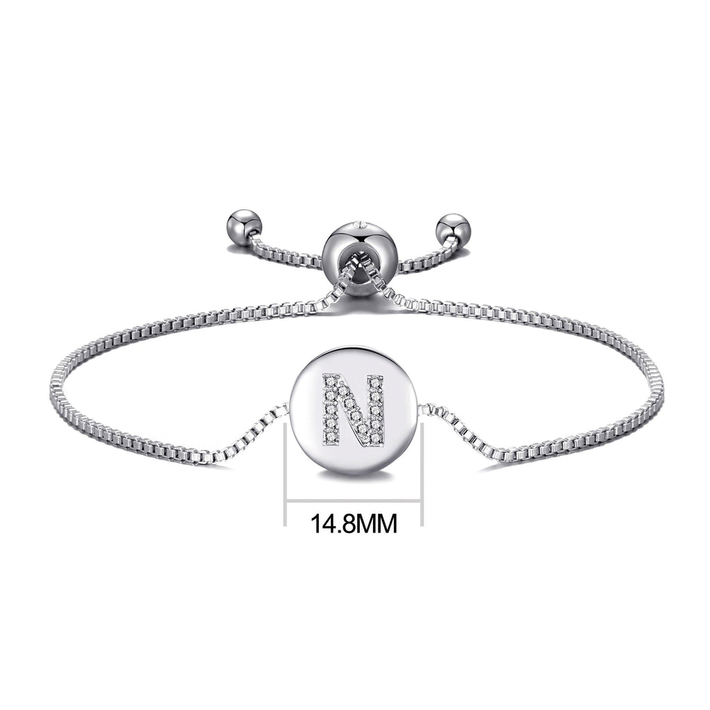 Initial Friendship Bracelet Letter N Created with Swarovski® Crystals