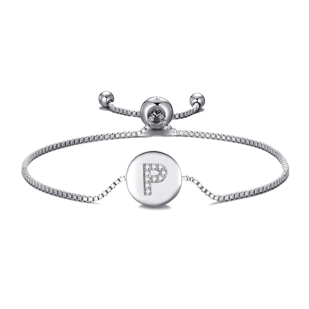 Initial Friendship Bracelet Letter P Created with Swarovski® Crystals