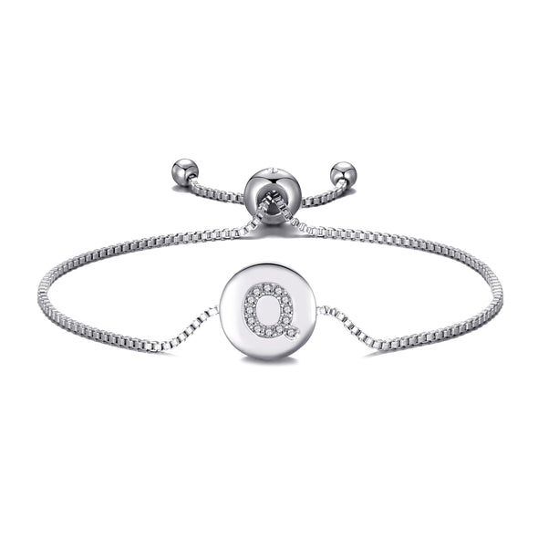 Initial Friendship Bracelet Letter Q Created with Swarovski® Crystals