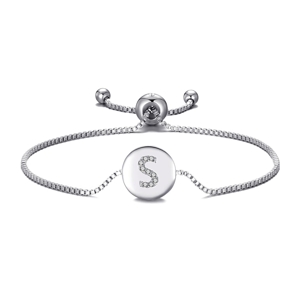 Initial Friendship Bracelet Letter S Created with Swarovski® Crystals