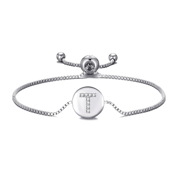 Initial Friendship Bracelet Letter T Created with Swarovski® Crystals