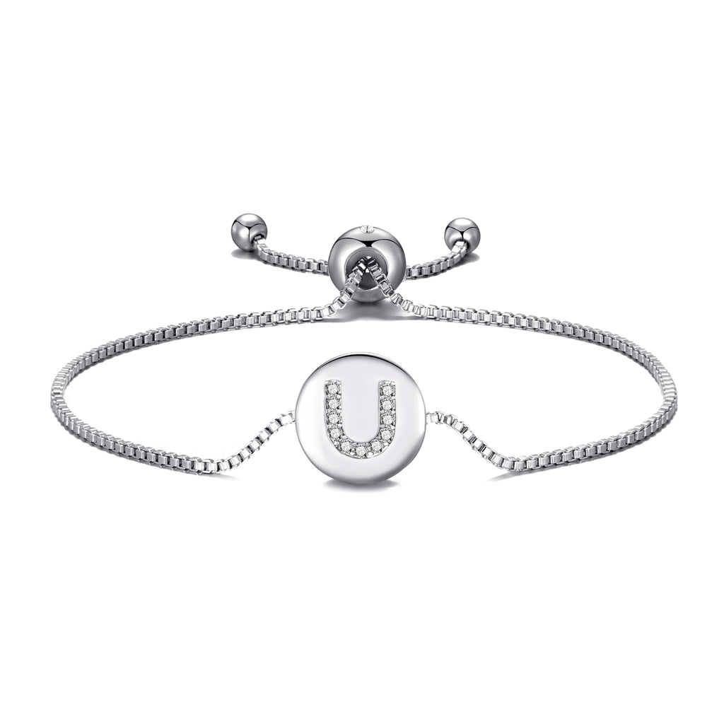 Initial Friendship Bracelet Letter U Created with Swarovski® Crystals