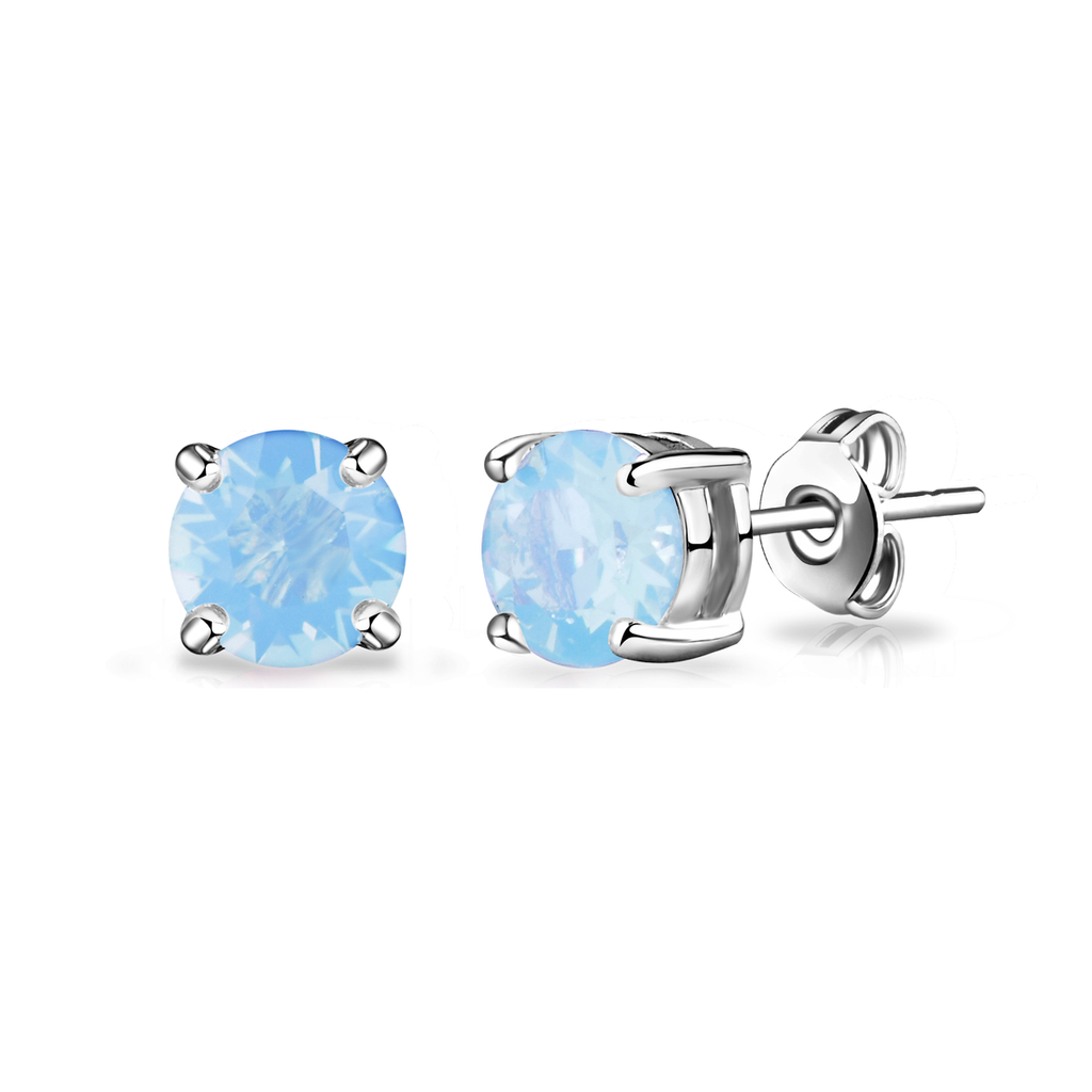 Pack of Three Opal Earrings Created with Swarovski® Crystals