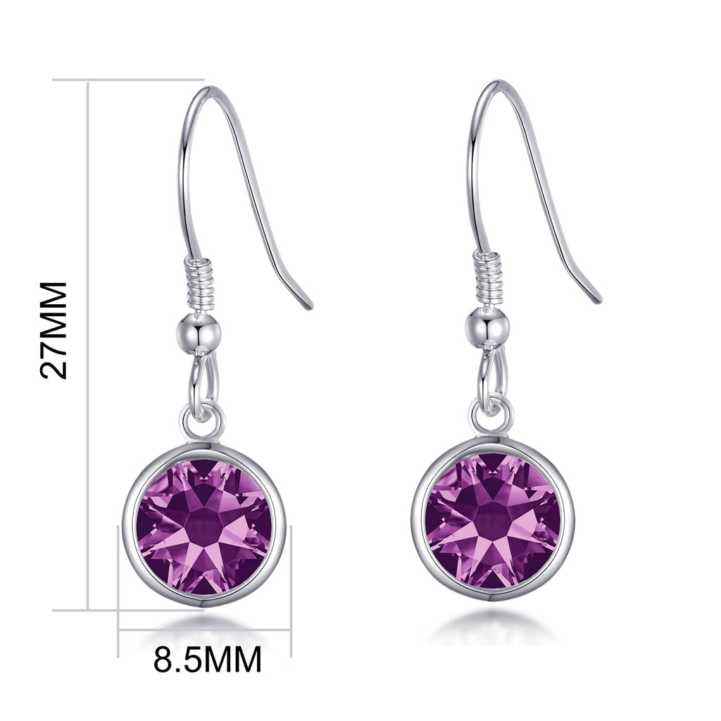 June Birthstone Drop Earrings Created with Alexandrite Swarovski® Crystals