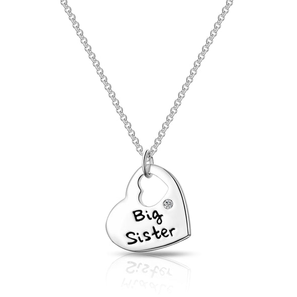 Big Sister Heart Necklace Created with Swarovski Crystals