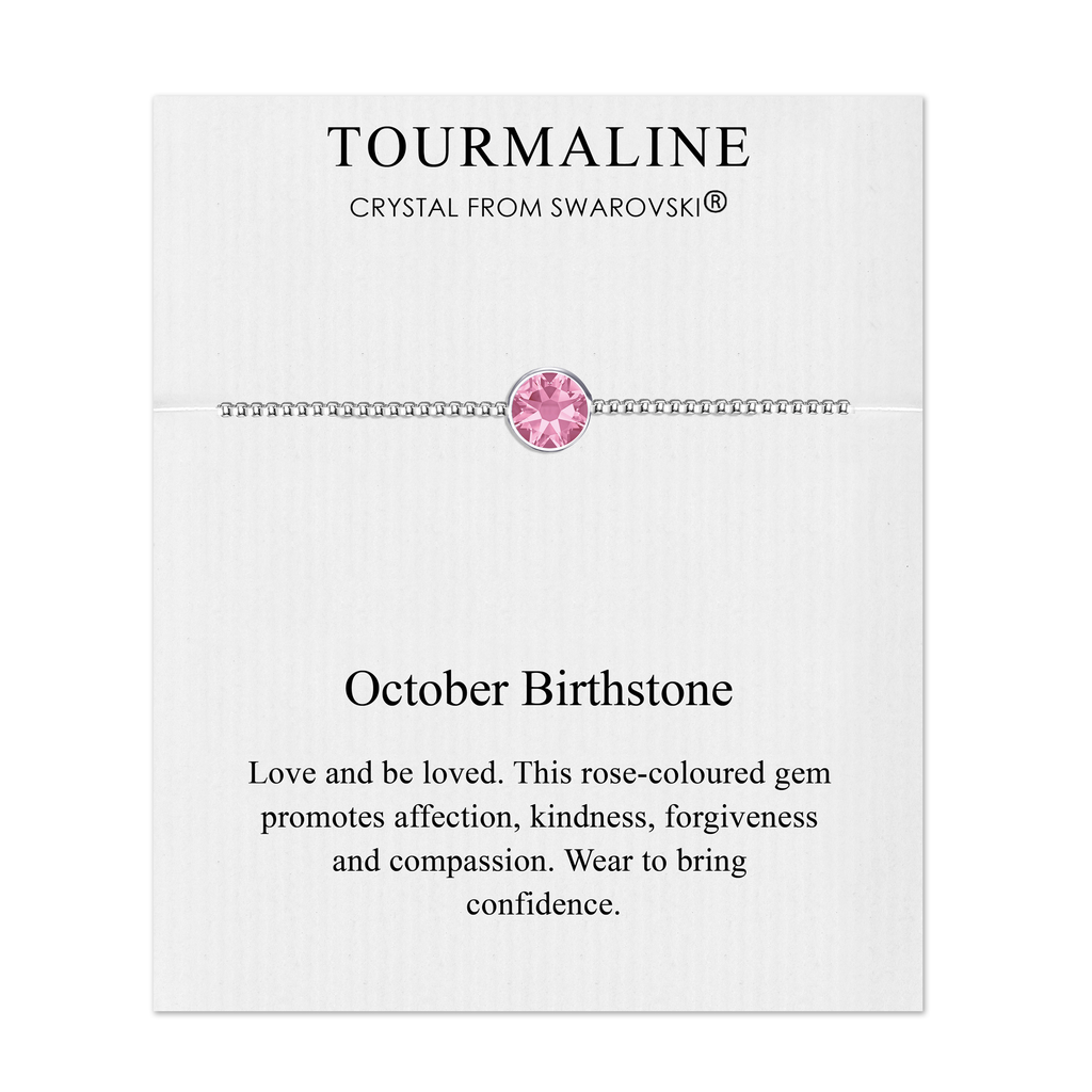 October (Tourmaline) Birthstone Bracelet Created with Swarovski® Crystals