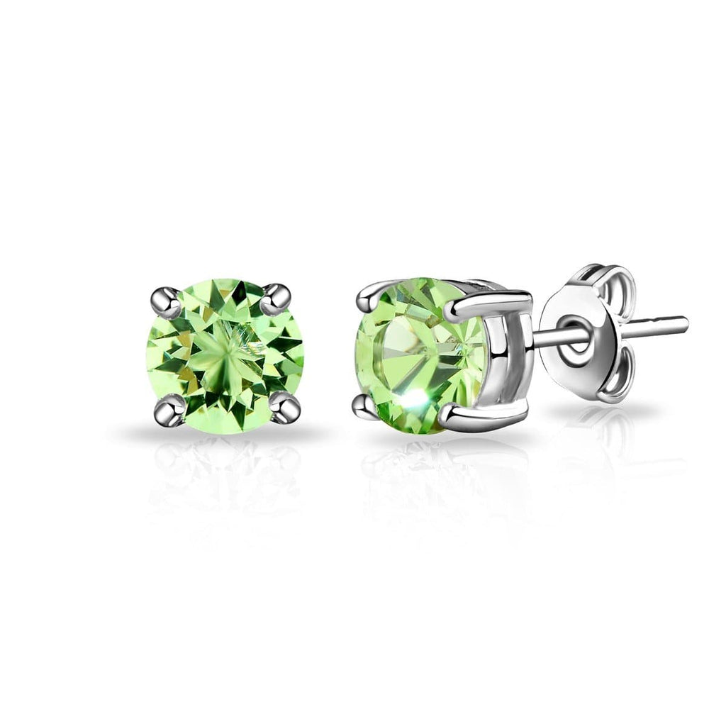August (Peridot) Birthstone Earrings