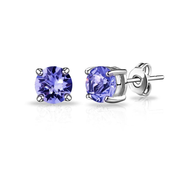 February (Amethyst) Birthstone Earrings