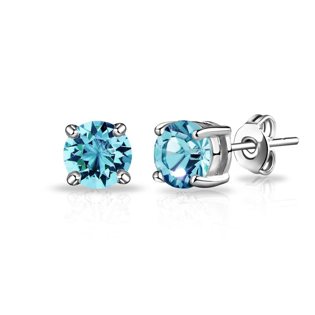 March (Aquamarine) Birthstone Earrings