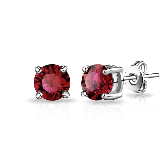 January (Garnet) Birthstone Earrings