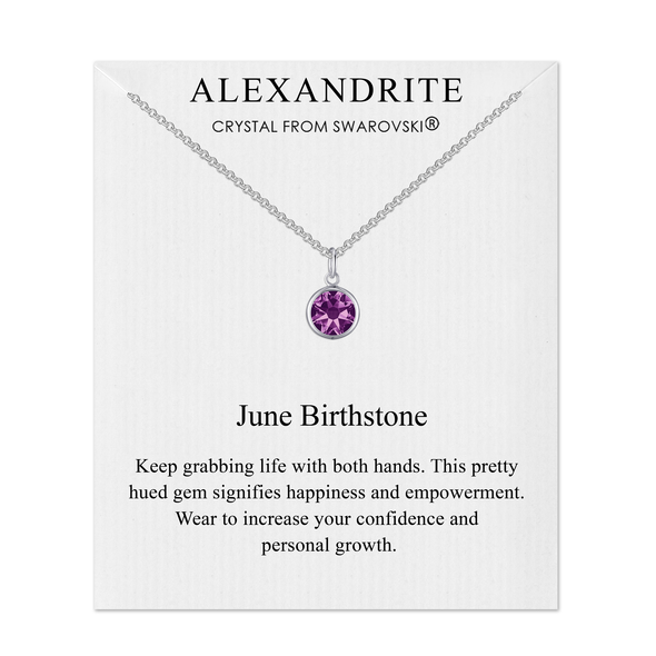 June (Alexandrite) Birthstone Necklace Created with Swarovski® Crystals