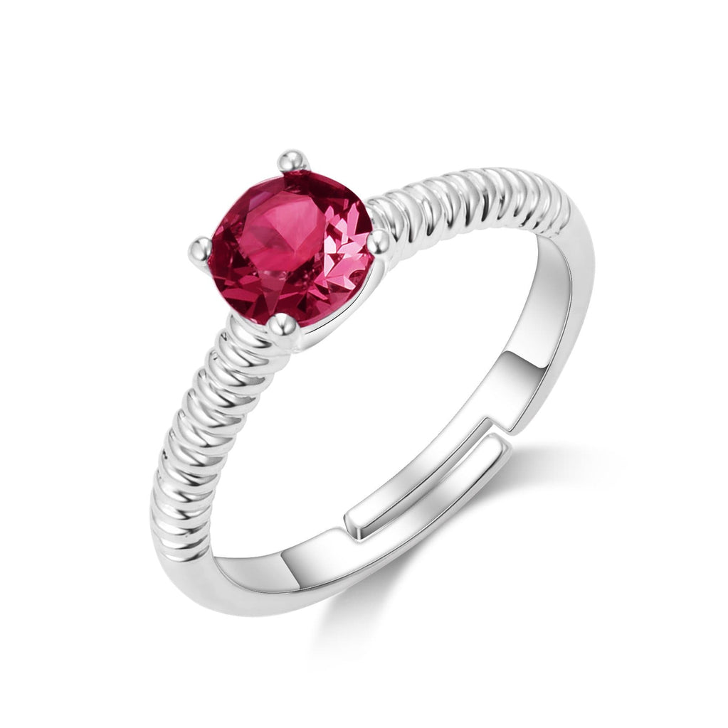 January (Garnet) Birthstone Ring