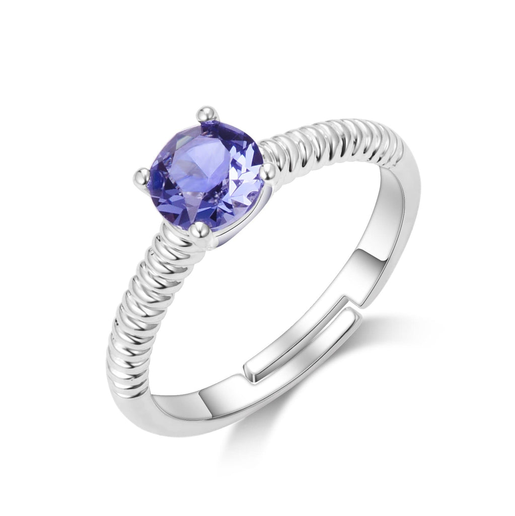 February (Amethyst) Birthstone Ring