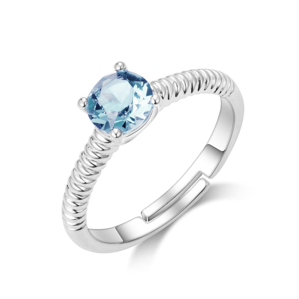March (Aquamarine) Birthstone Ring