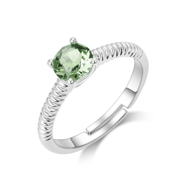 August (Peridot) Birthstone Ring