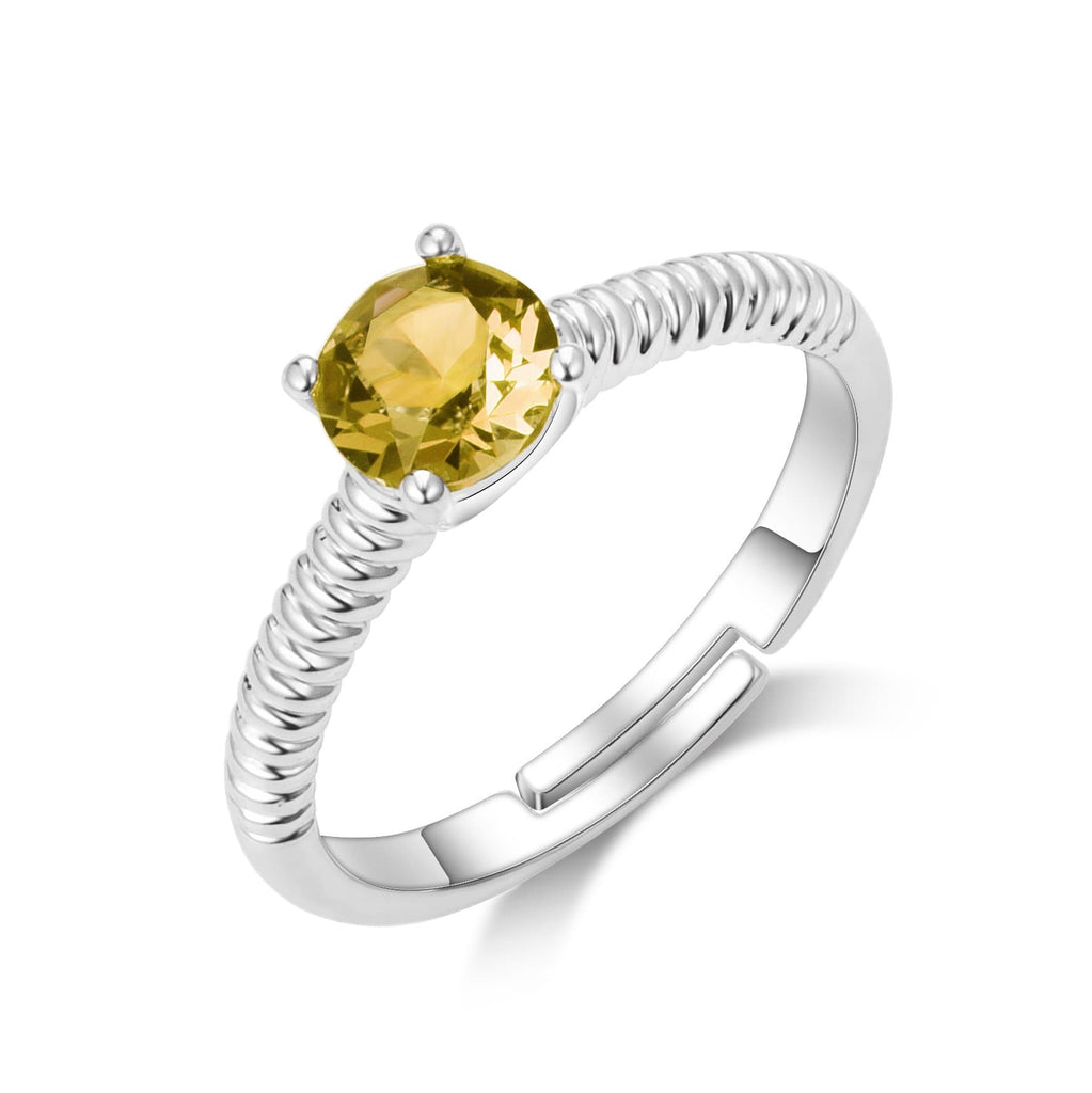 November (Topaz) Birthstone Ring