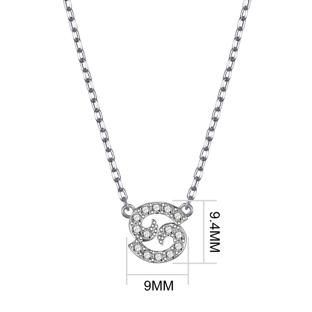 Cancer Zodiac Necklace Created with Swarovski® Crystals