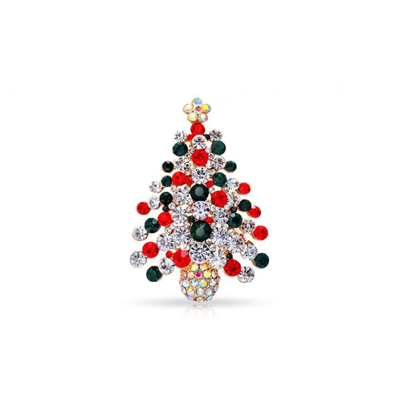 Xmas Tree Christmas Brooch