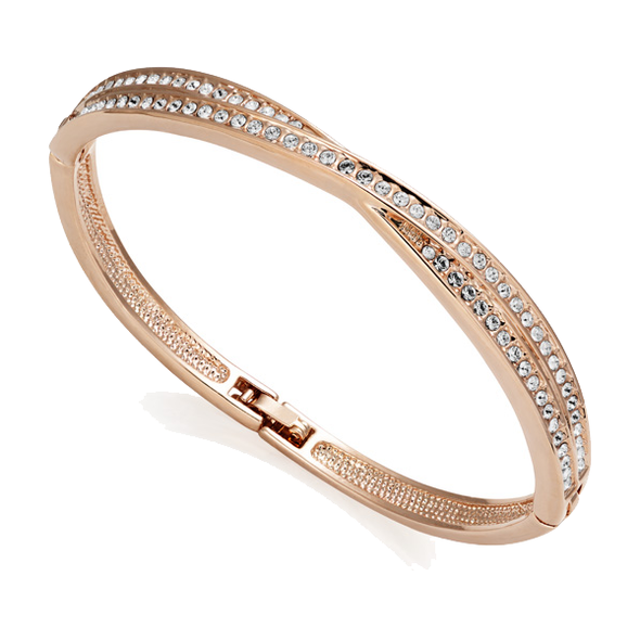 Rose Gold-Tone Crossover Bangle