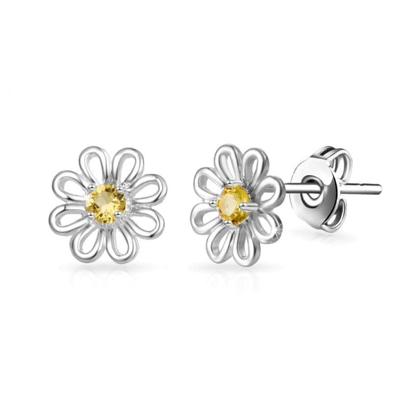Daisy Stud Earrings Created with Swarovski Crystals