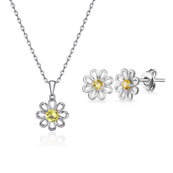 Daisy Set Created with Swarovski® Crystals