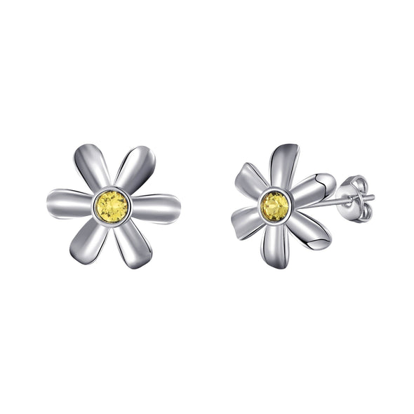 Daisy Earrings Created with Swarovski® Crystals