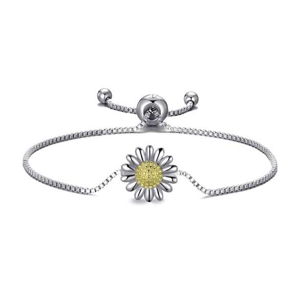 Daisy Friendship Bracelet Created with Swarovski® Crystals