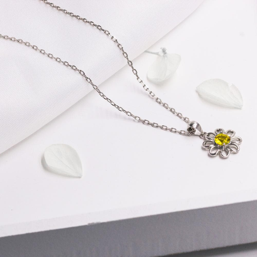 Daisy Necklace Created with Swarovski® Crystals