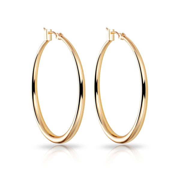 Gold 40mm Hoop Earrings