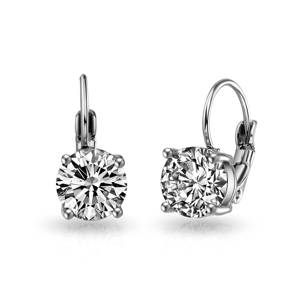 Pack of Three Round Drop Earrings Created with Swarovski® Crystals