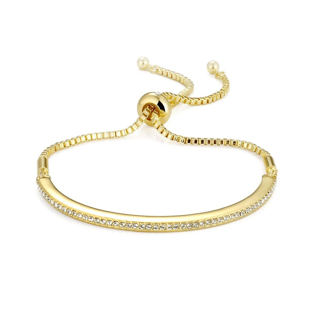 Gold Friendship Bracelet Created with Swarovski Crystals