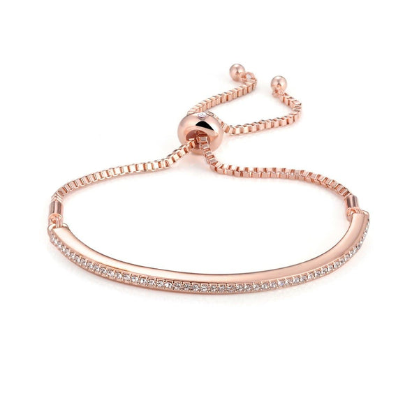 Rose Gold Friendship Bracelet Created with Swarovski Crystals