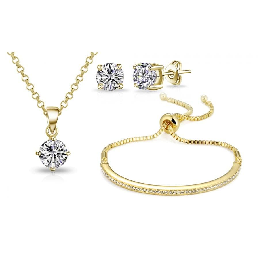 Gold Friendship Set Created with Swarovski Crystals