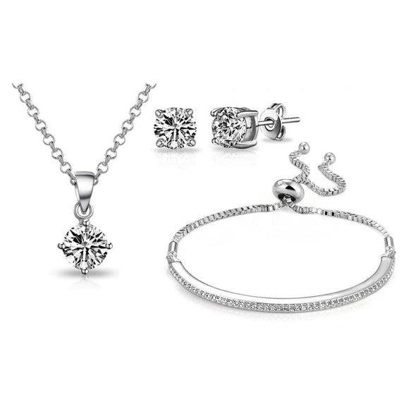 Silver-Tone Friendship Set