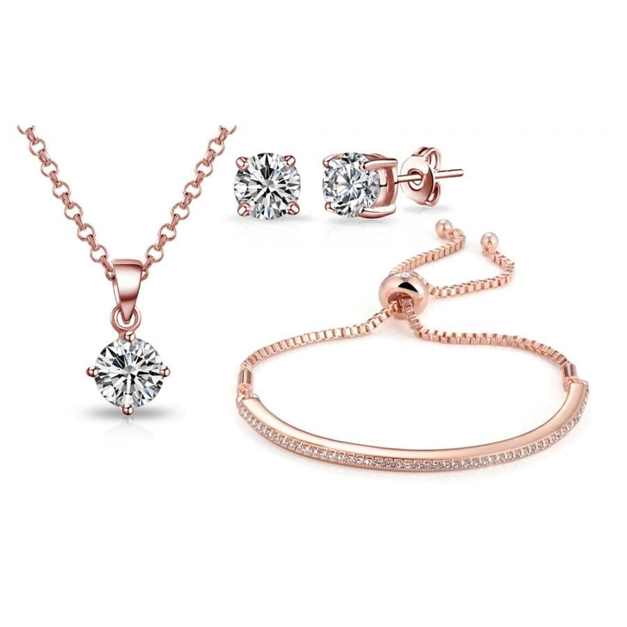 Rose Gold-Tone Friendship Set