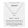 Gemini Zodiac Necklace Created with Swarovski® Crystals