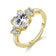 Gold Meghan Replica Ring Created with Swarovski® Crystals