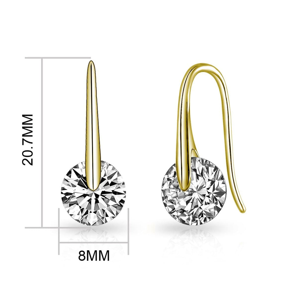 Gold Atlas Earrings Created with Swarovski® Crystals