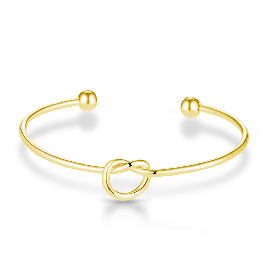 Gold Love Knot Cuff Bangle