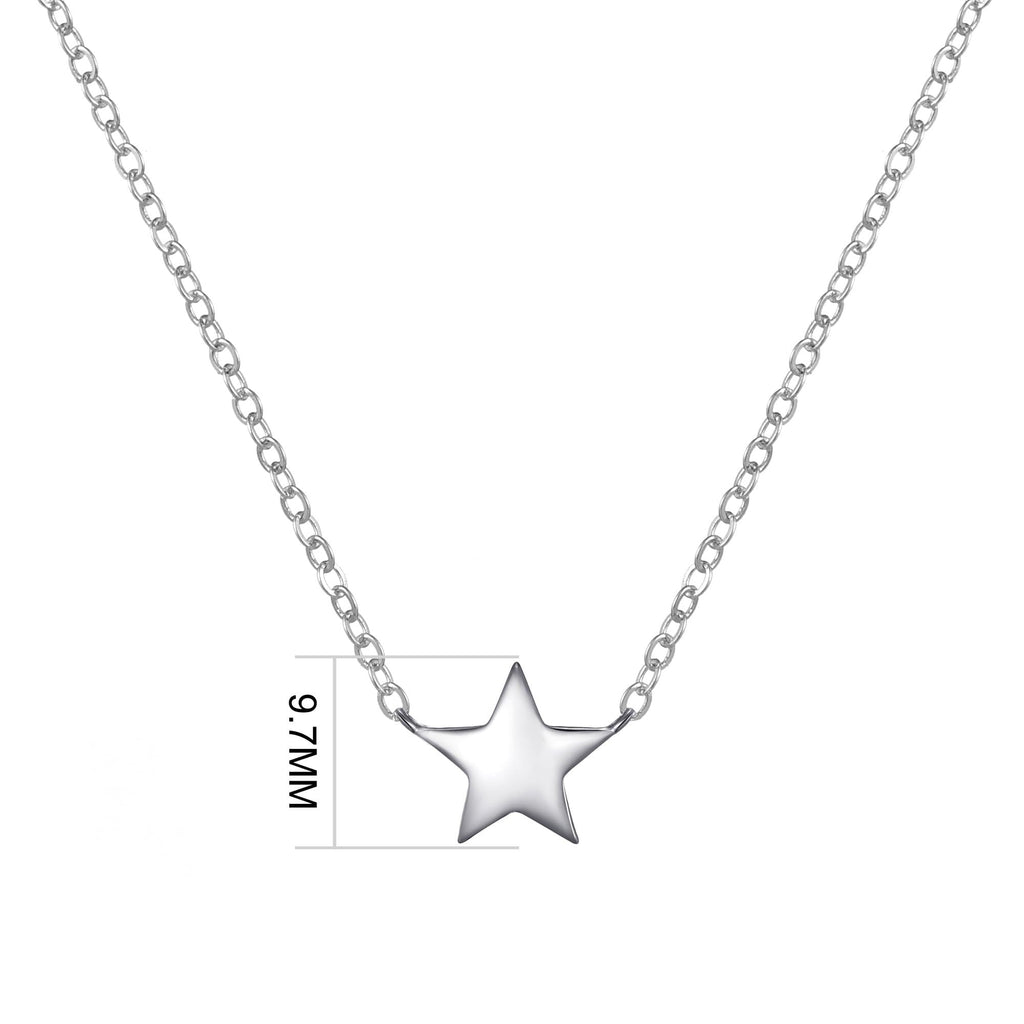 Sterling Silver Friendship Quote Star Necklace