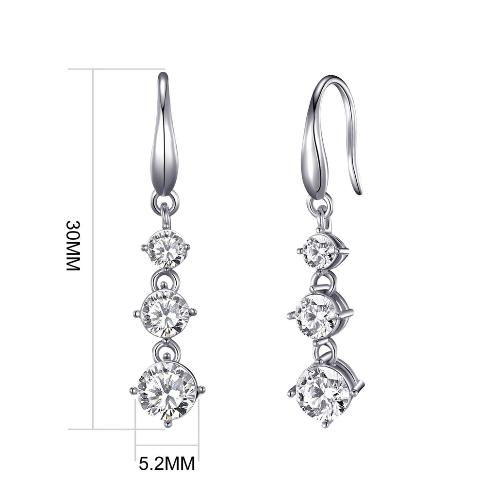 Graduated Drop Earrings Created with Swarovski® Crystals