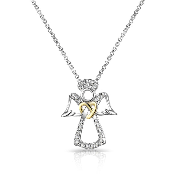 Guardian Angel Necklace Created with Swarovski Crystals