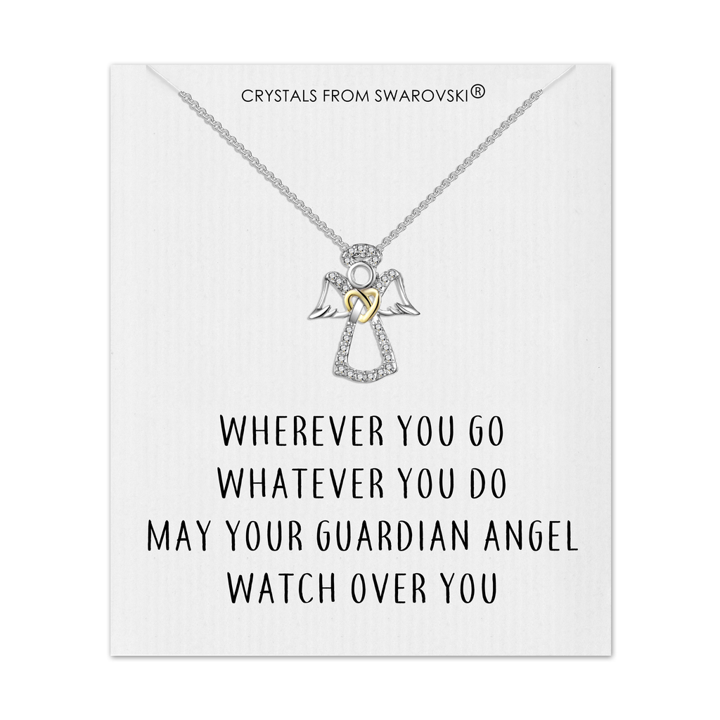 Guardian Angel Necklace with Quote Card Created with Swarovski® Crystals
